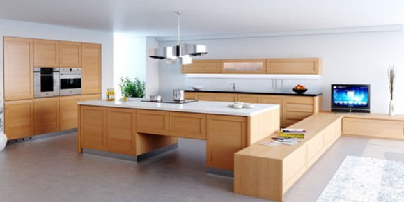 contemporary wooden kitchen furniture