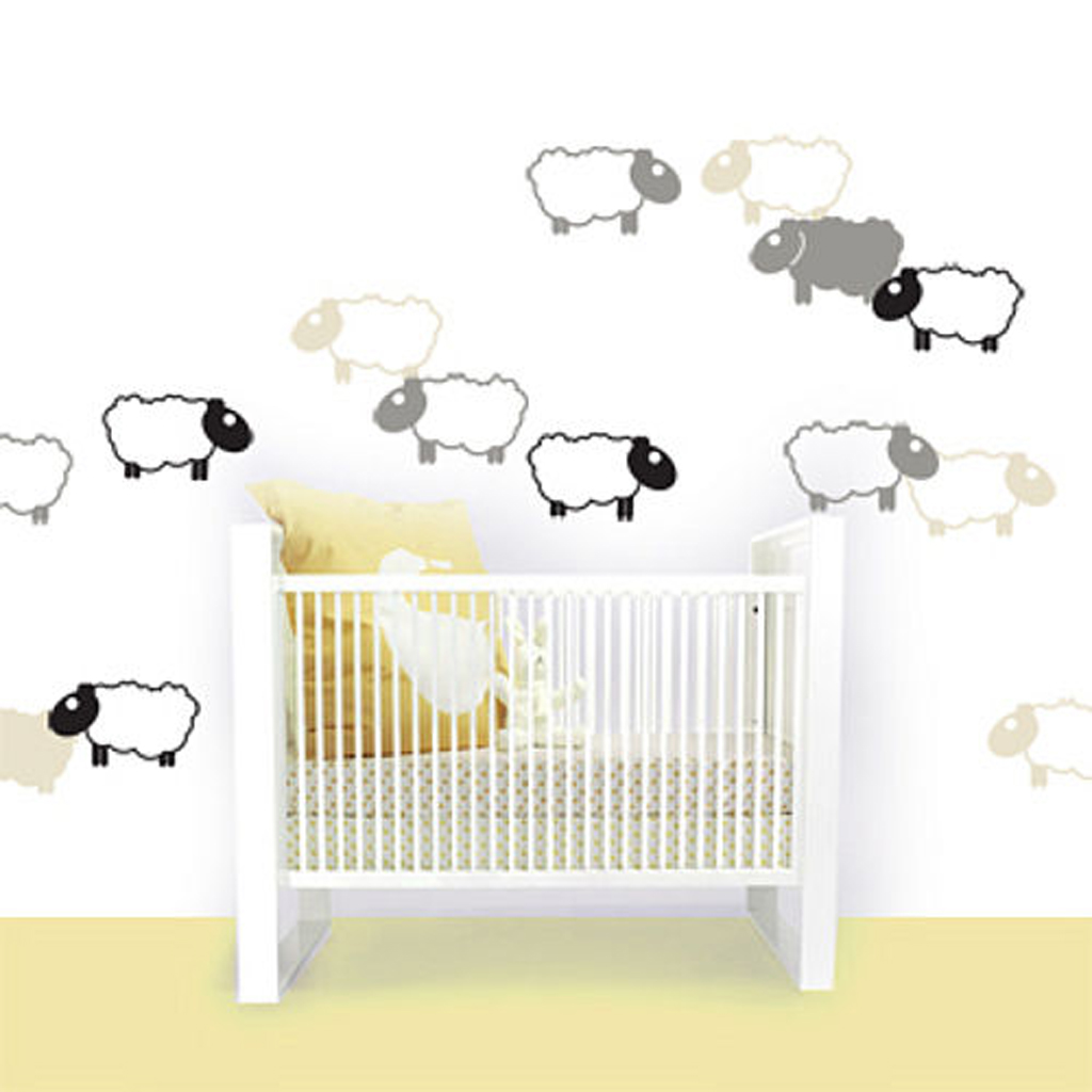 Cute kids bedroom wall decals for Baby room decoration wall stickers
