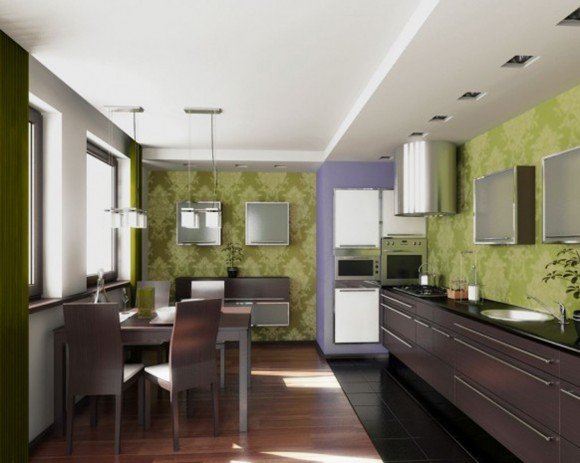eco-green kitchen concept