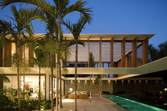exotic tropical residence designs
