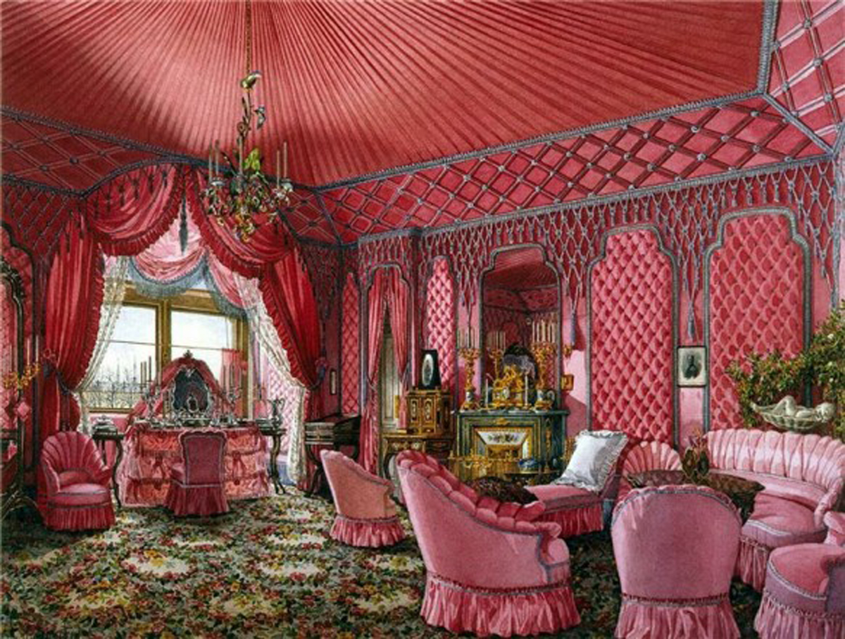Http Www Iroonie Com Aristocratic Russian Palace Interior Designs Artistic Furnishing Layouts Feminine Pink Furnishing Plans