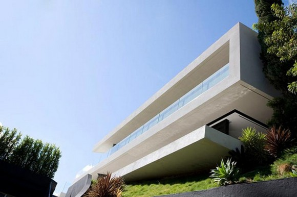 great white concrete home