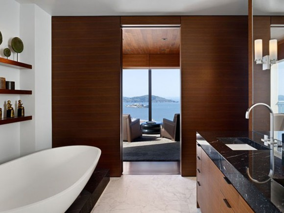 handsome bathroom furnishing landscape