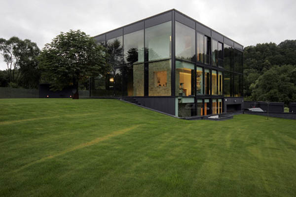 Modern glass house designs for Modern glass house plans