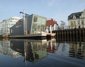 modern house boat designs