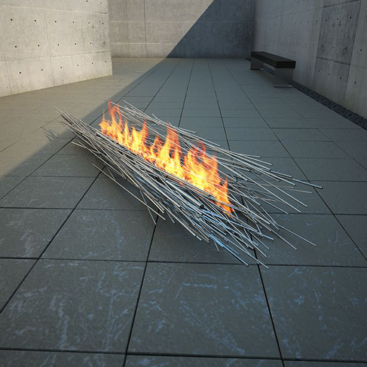 ... Outdoor Fireplace Designs with Portable and Metallic Features