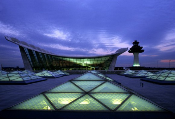 ultra modern Dulles airport architectural