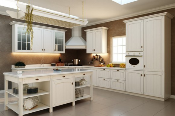vintage country look kitchen