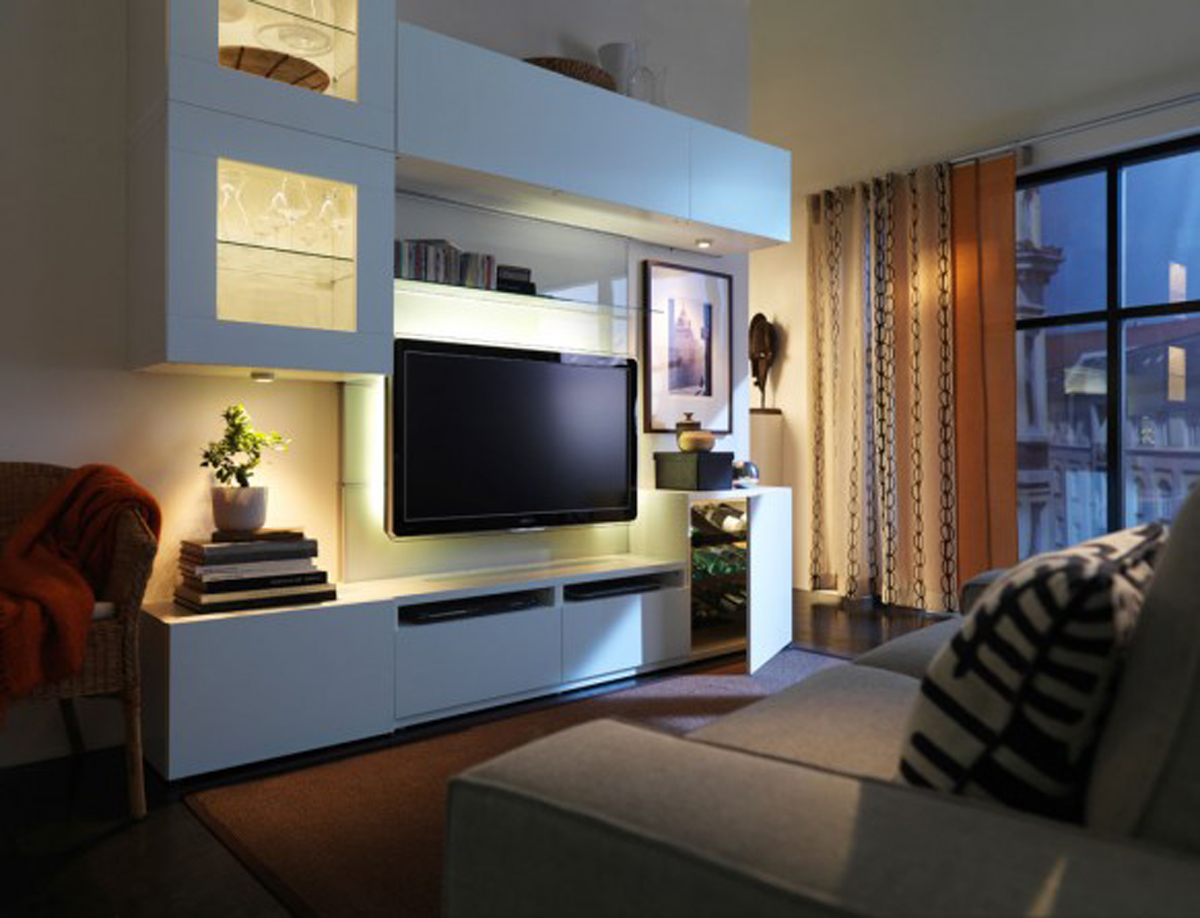 2011 ikea living room furniture - Ikea tv wand ...