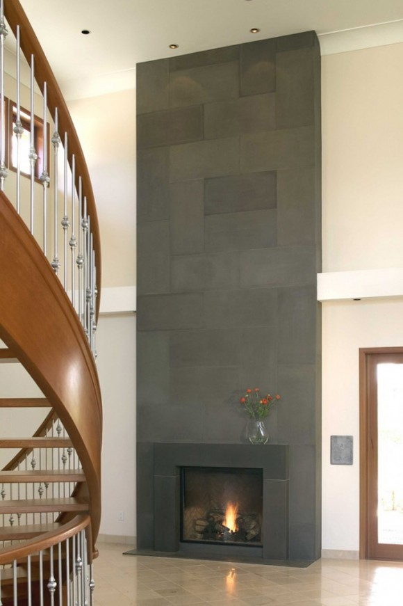 black stone fireplace designs