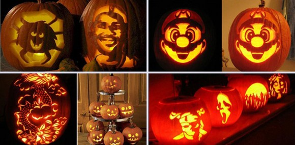 cartoon character pumpkin carving concept
