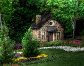 comfortable fairy tale house