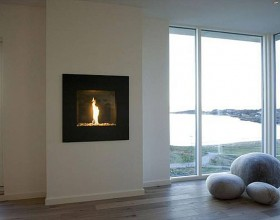 futuristic fireplace design pictures