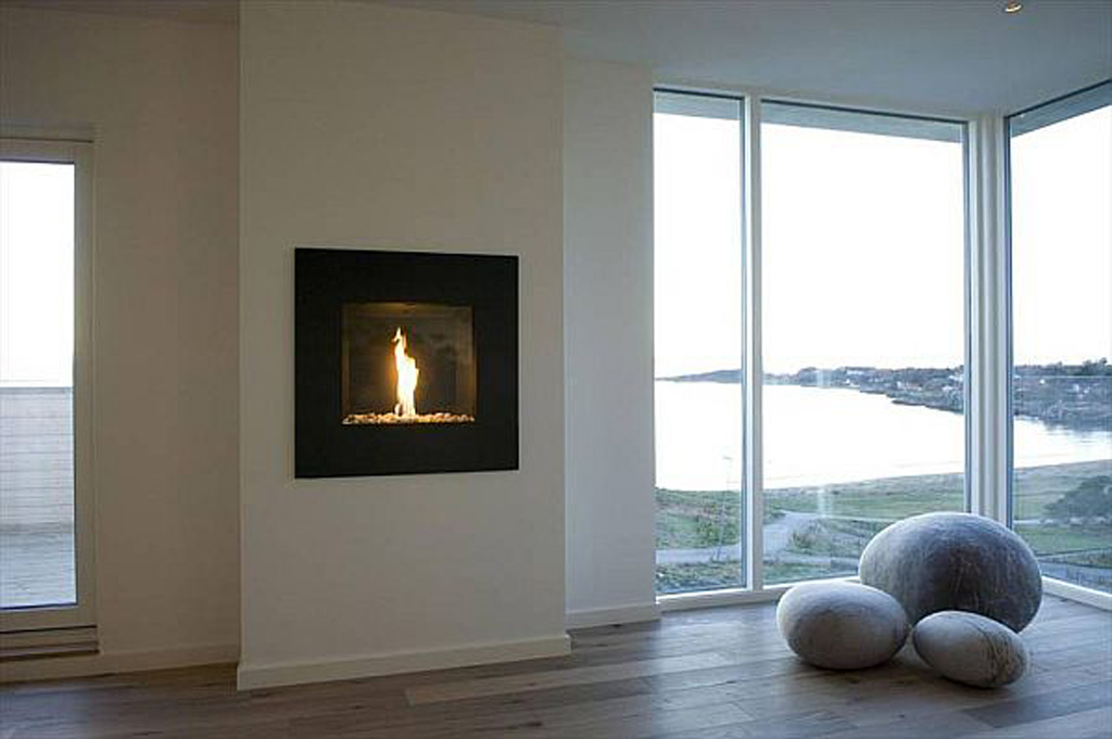 Modern Futuristic Home Fireplace Designs