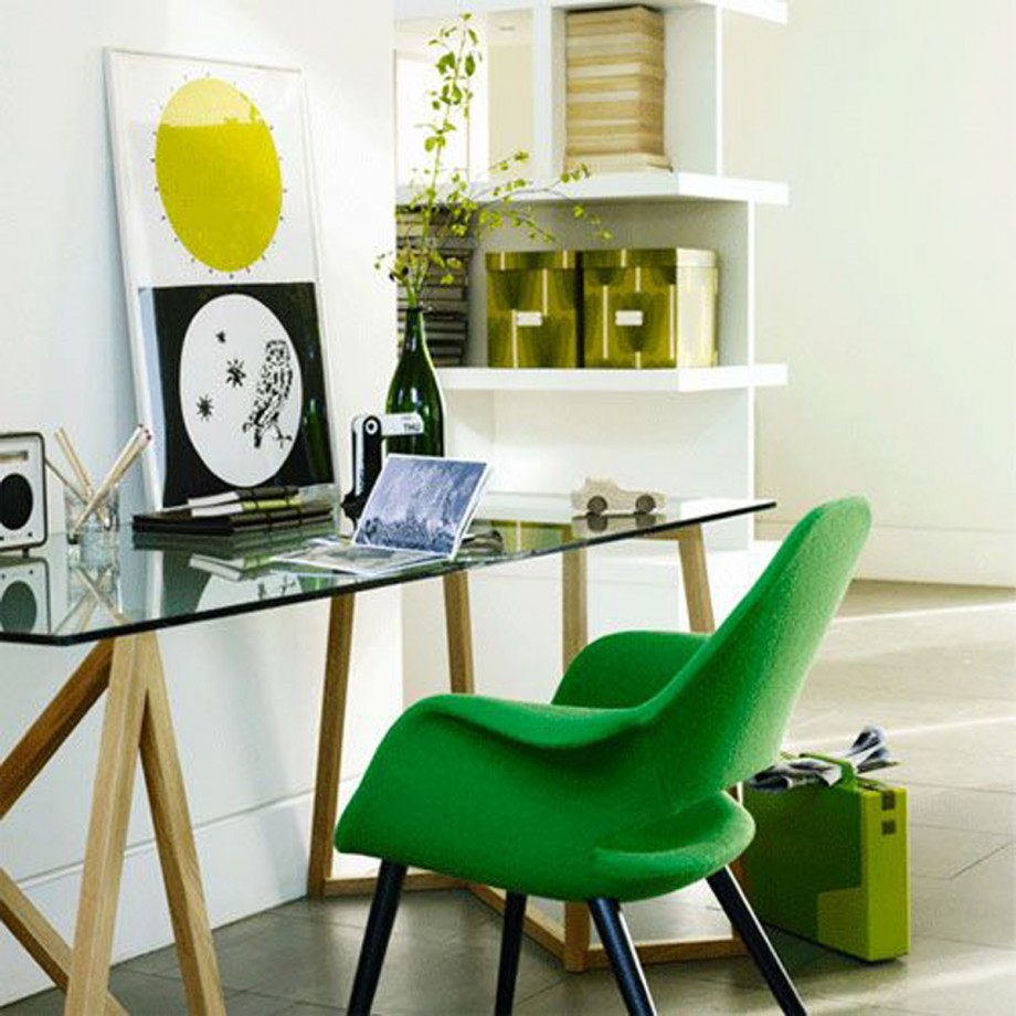 green and clean office furniture
