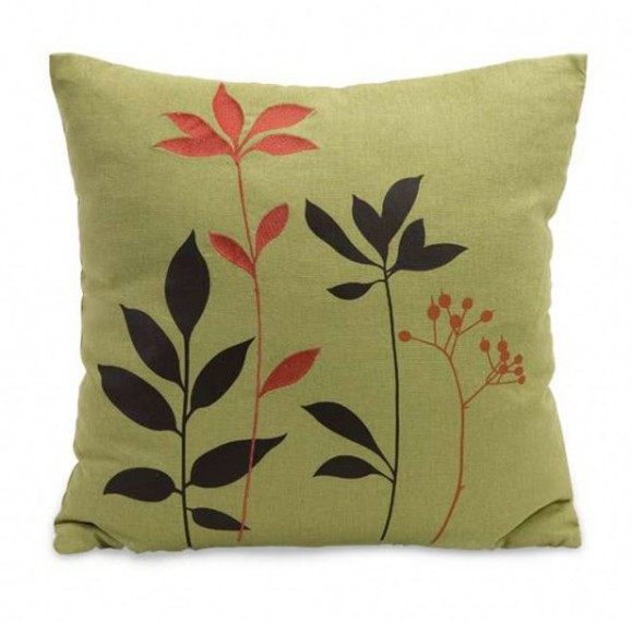 green floral portable cushions