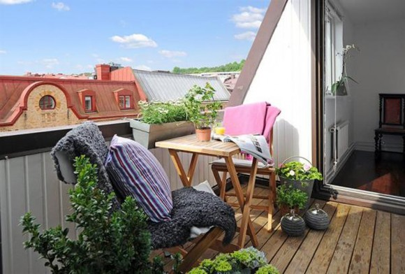 green rooftop terrace space