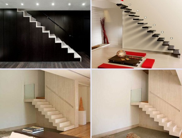 minimal floating staircase plans