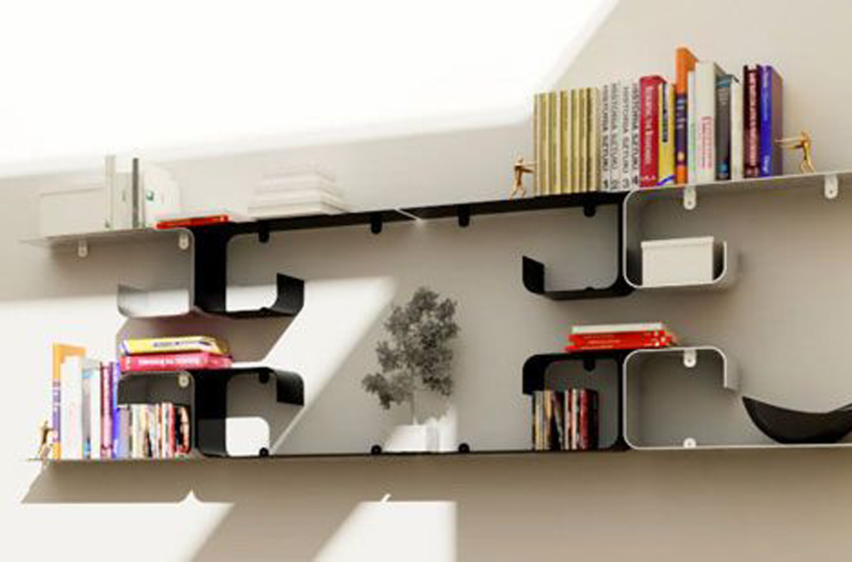 Modern bookshelf designs plans for Bookshelf layout ideas