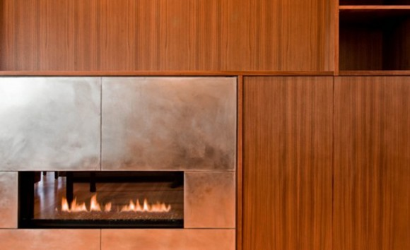 modern wall fireplace landscaping