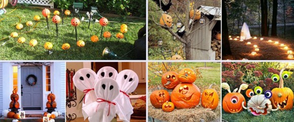 outdoor Halloween celebration decorations