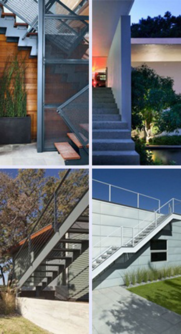 outdoor staircase structural system