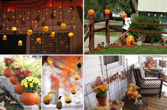 pumpkin lamp and carving style