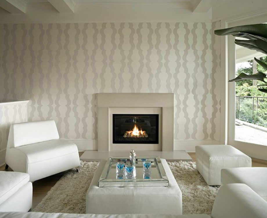 retro wall fireplace landscaping