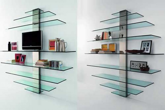 round glass bookcase layouts