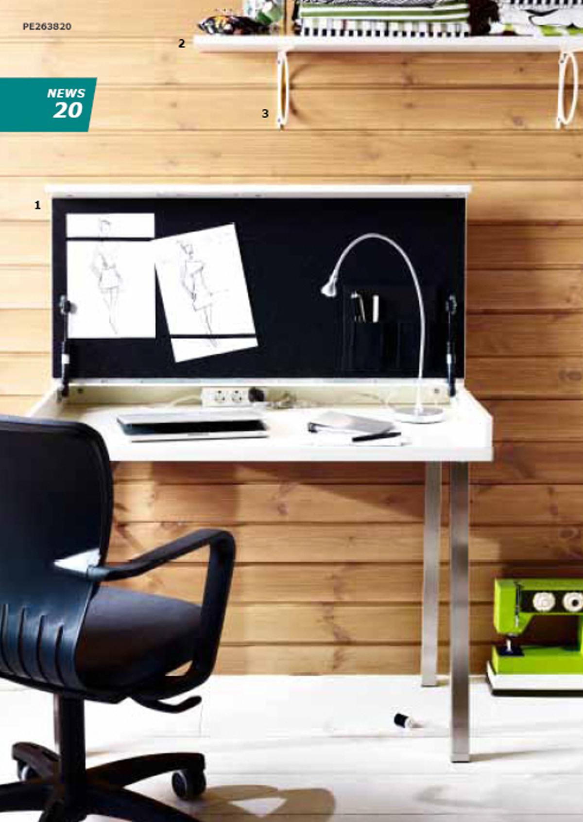 Simple home office furniture set for Simple office furniture design