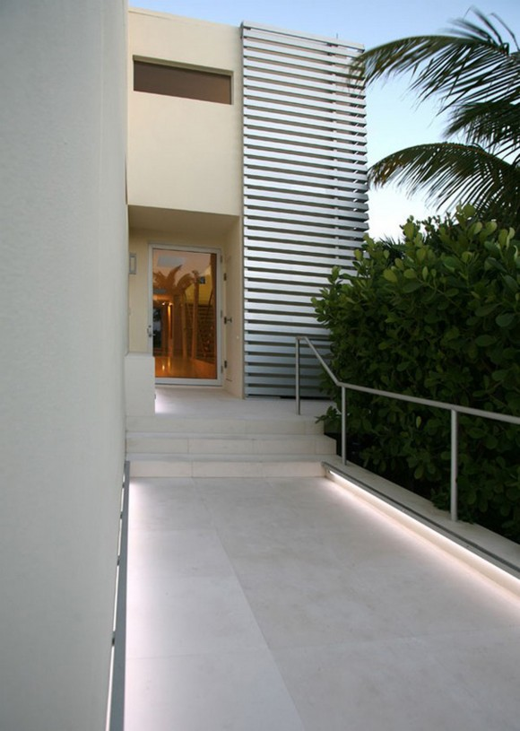 white hallway as exterior decorations