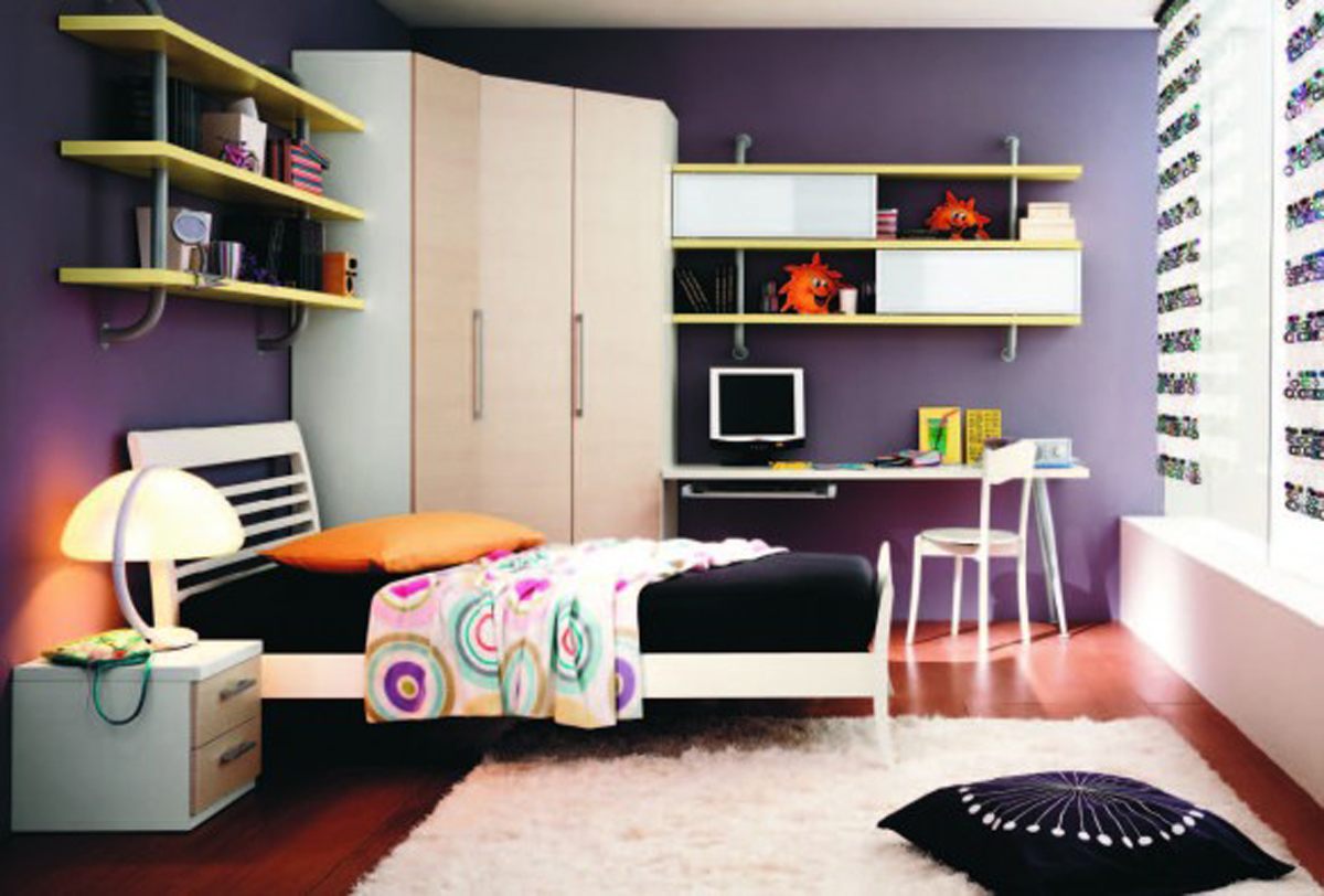 Black and white teen bedroom for Teenage bedroom ideas