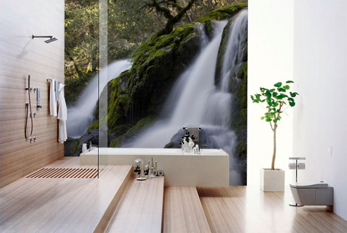 Calm Bathroom Wallpaper Ideas