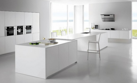 fashionable white kitchen series