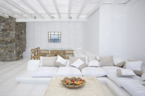 indoor white living room plans