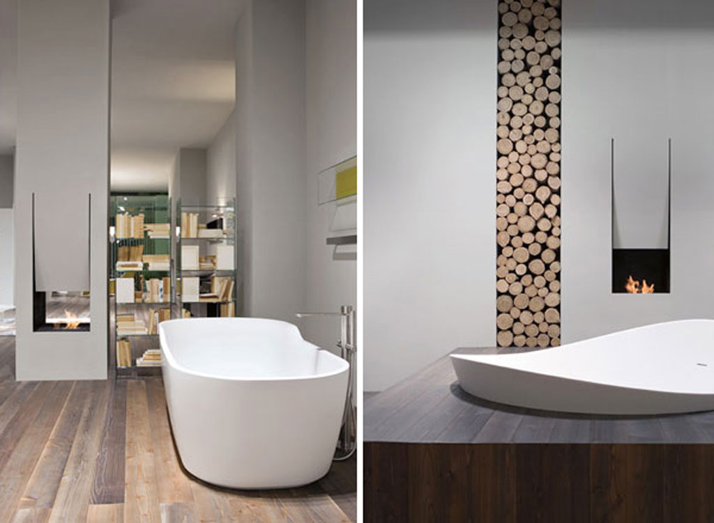 Inspiring Bathroom Designs For The Soul: Inspiring Bathroom Fireplace Projects