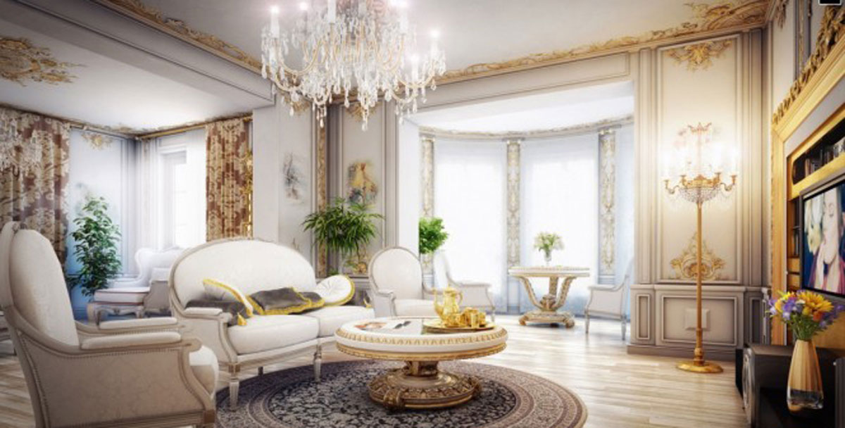 Lavish victorian living room designs for Edwardian living room ideas