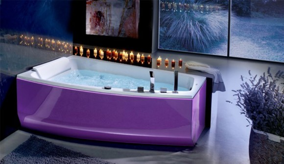 stylish purple bathtub designs