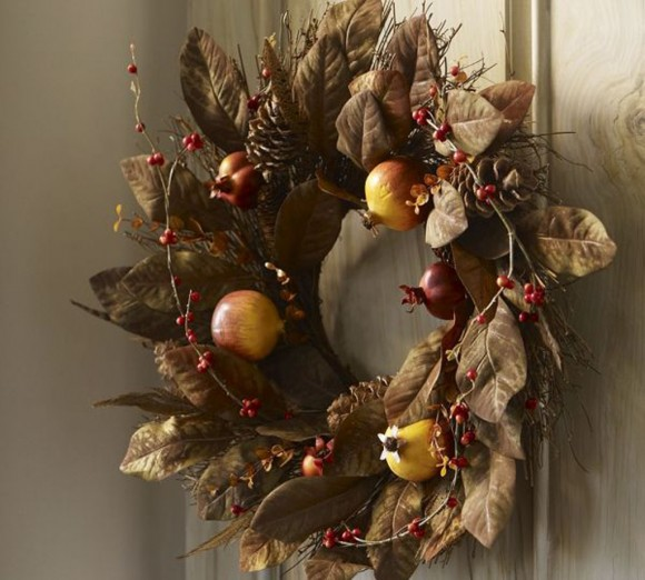 artistic chocolate wreath door