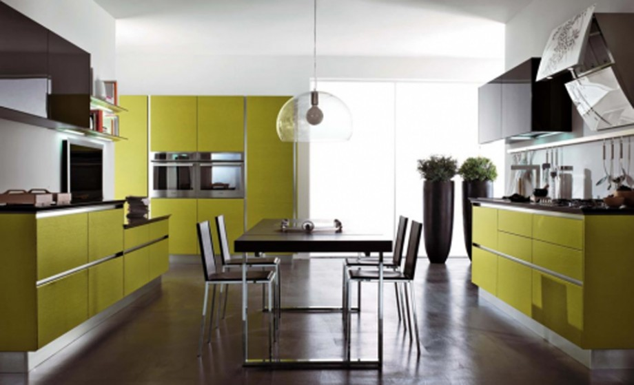 cheerful modern kitchen plans