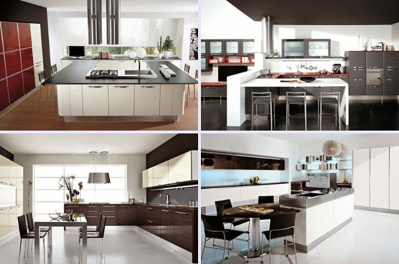 comfortable kitchen interior and decorations