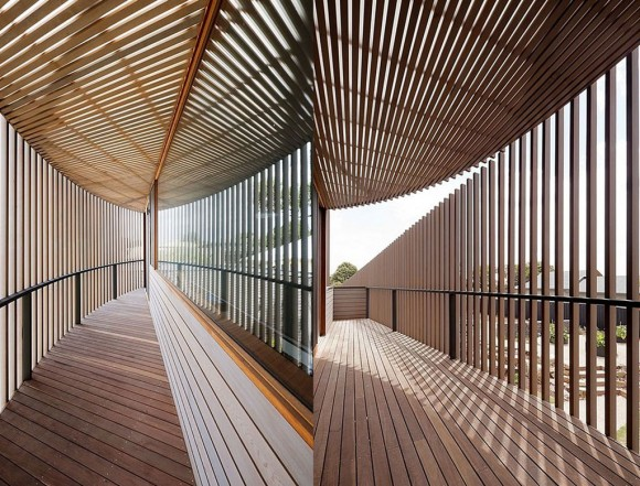 contemporary wooden interior landscaping