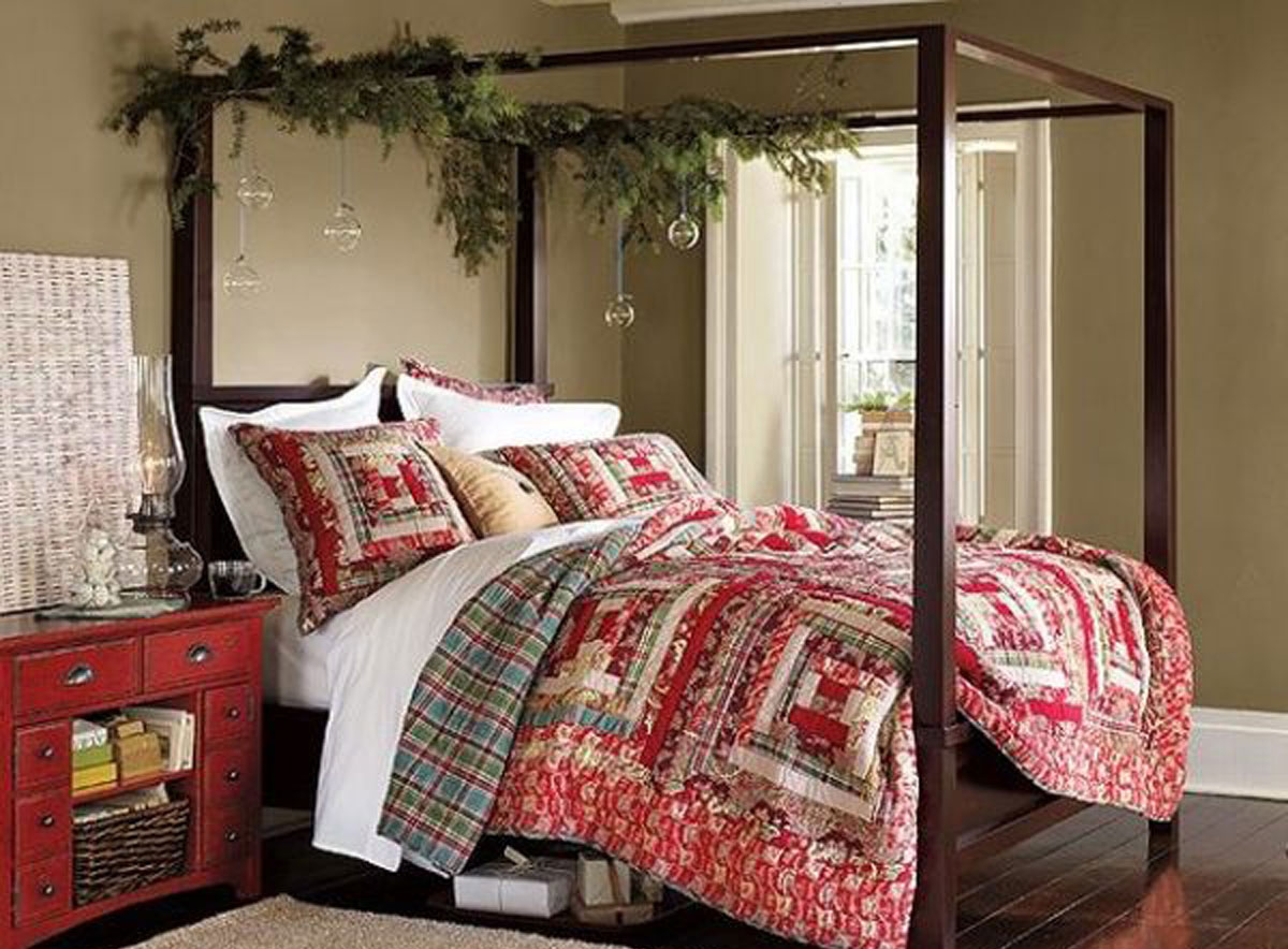 cute christmas bed set. Black Bedroom Furniture Sets. Home Design Ideas