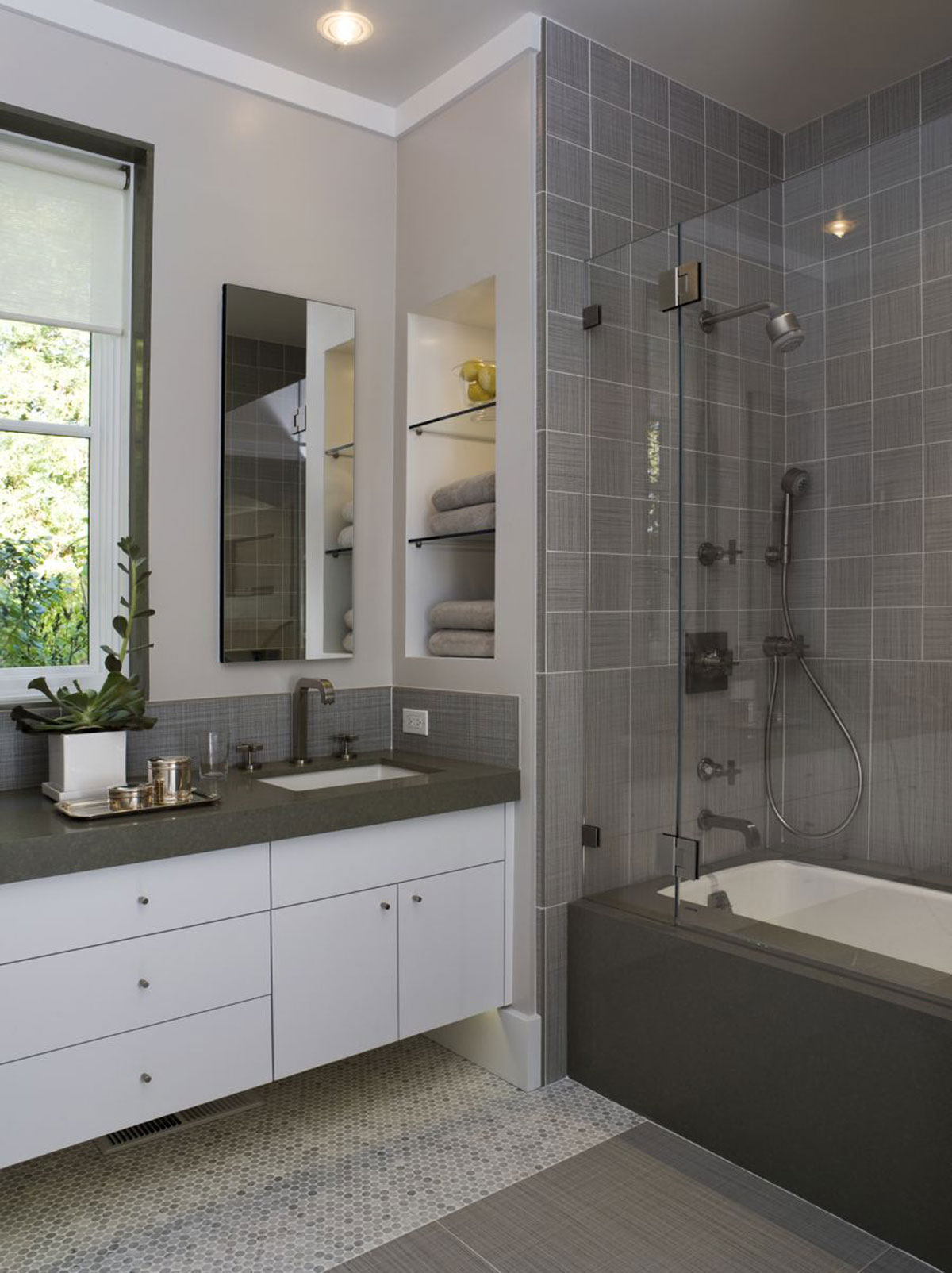 grey bathroom space ideas - Iroonie.com