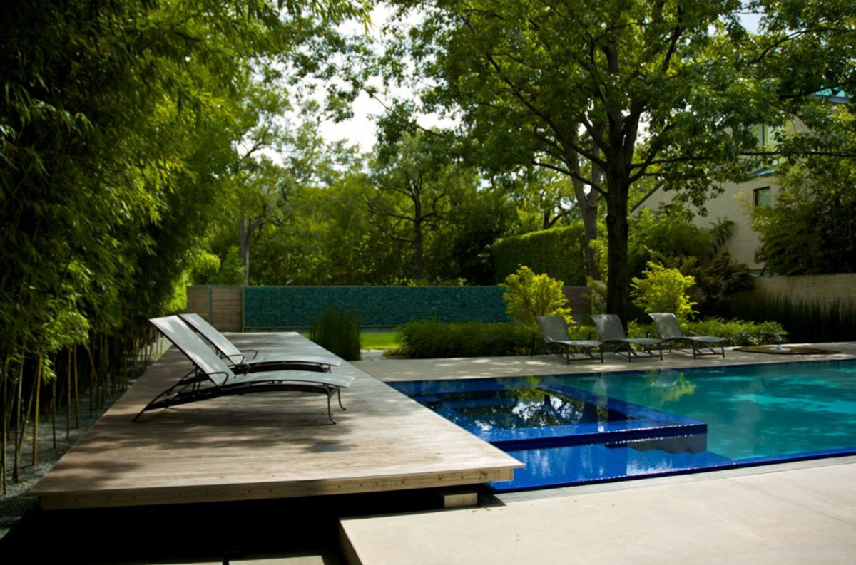 Handsome outdoor pool landscape for Pool exterior design