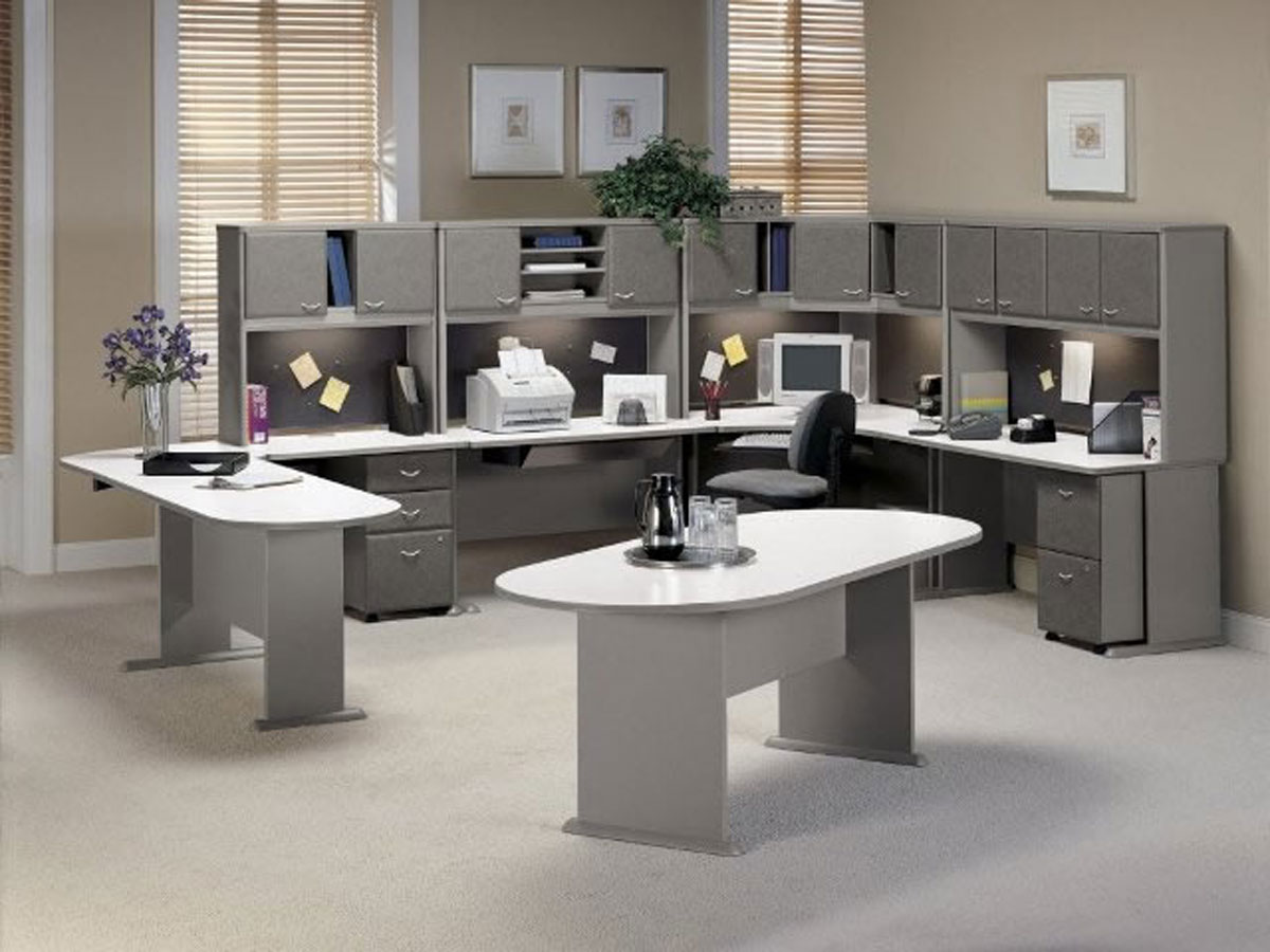Contemporary Office Furniture Designs With Integrated Workspace