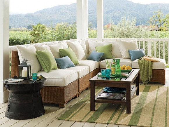nice outdoor sectional sofa landscaping