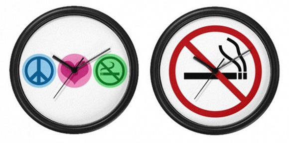 no smoking clock designs