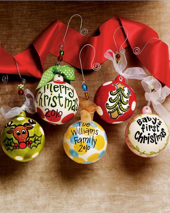 personalized bubble christmas ornament