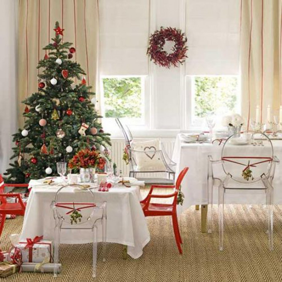 practical white christmas dining room